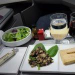エールフランスのビジネスクラスの豪華機内食♪
