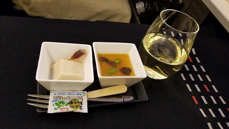 JALビジネスクラスの機内食で出てきた付き出し