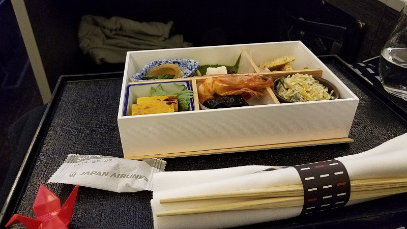 JALビジネスクラスの前菜